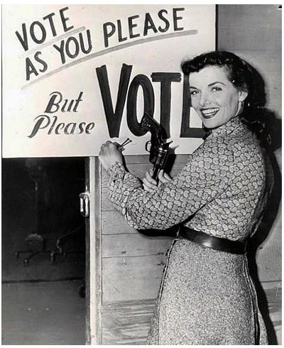 Jane Russell Vote as you please but please vote